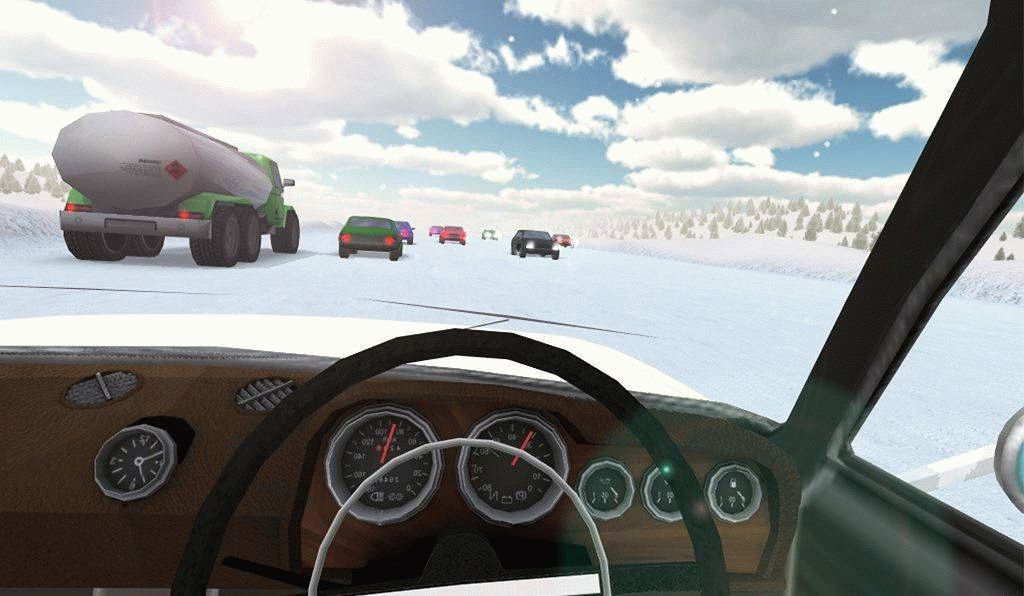 Скачать Russian Winter Traffic Racer для android бесплатно