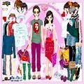 Одень влюбленных Aaron and Gabrielle Couple Dressup играть онлайн